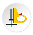 yellow cordless reciprocating saw icon circle vector image vector image