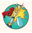 Pop sound of opening champagne vector image