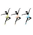 Ballet dancers for your design vector image
