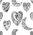 ornamental heart and crescent vector image