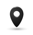Black map location sign marker isolated vector image