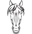 pony face vector image