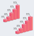 3d charts statistics vector image vector image