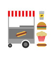american fast food vector image vector image