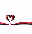 angolan flag heart-shaped ribbon vector image vector image