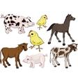 bafarm animals set vector image