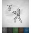 boxer icon Hand drawn vector image vector image