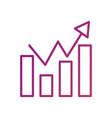 business finance chart bar graph arrow growth vector image vector image