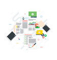 business paperwork organization concept vector image