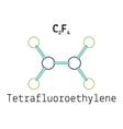 C2F4 tetrafluoroethylene molecule vector image vector image