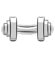 Cartoon dumbbell eps10 vector image