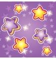 cartoon stars on a purple background vector image vector image