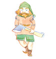 character gnome with ax fairytale character vector image vector image