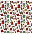 chrestmas presents seamless pattern vector image
