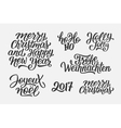 Christmas and New Year lettering set vector image vector image