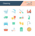 cleaning iconsflat design collection 46 vector image vector image