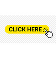 click here web button isolated website buy or vector image
