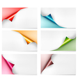 Collection of colorful cardboard paper banners vector image