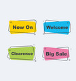 collection sale discount styled banners vector image vector image