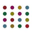color balls set striped ball check dots pattern vector image