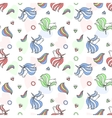 Colorful seamless pattern with unicorn heart vector image