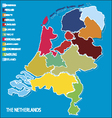 Country map of the netherlands vector image