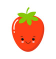 cute garden strawberry fruit or strawberries flat vector image vector image
