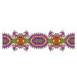 decorative ornate design stripe pattern ethnic vector image vector image