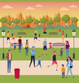 families in park vector image