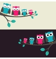 family of owls vector image vector image
