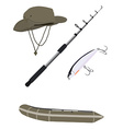 Fishing set vector image vector image