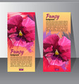flyer with the hand drawn pancy flower vector image