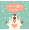 Greeting card for mom with cute puppy vector image vector image