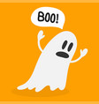 halloween ghost with speech bubble that says boo vector image