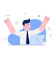 happy businessman vector image vector image