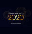happy new year 2020 golden typography with light vector image vector image