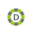 healthy dental care letter d vector image vector image