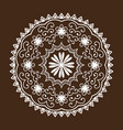 henna tattoo mehndi flower template doodle vector image vector image
