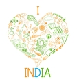I love India vector image vector image
