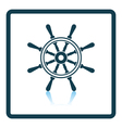 Icon of steering wheel vector image vector image