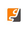 letter gs modern vector image