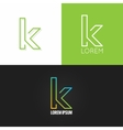 letter K logo alphabet design icon set background vector image vector image