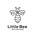 litle bee animal logo and icon design vector image