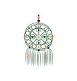 macrame with colorful beads dream catcher made of vector image