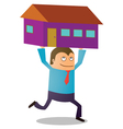 Man buying house vector image vector image