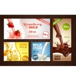 Milk Banners Set vector image vector image