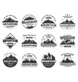 mountain expedition and rock climbing icons vector image vector image