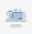 online finance vector image vector image