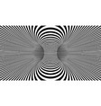 optical lines background abstract 3d vector image vector image