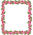 Ornate floral frame background vector image vector image